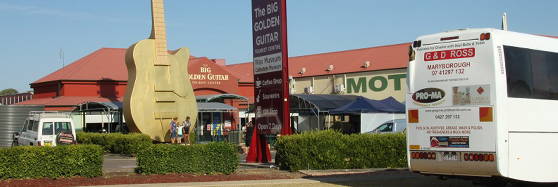 G&D Ross Tour at Big Golden Guitar — Tours in Maryborough QLD